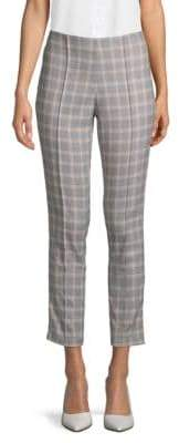 Kenneth Cole New York Plaid Skinny Cropped Pants