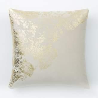west elm Velvet Metallic Sandstone Pillow Cover - Stone