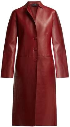 Anda bonded-leather coat