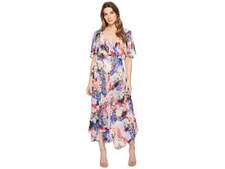 Catherine Malandrino Jos Ruffle Midi Wrap Dress