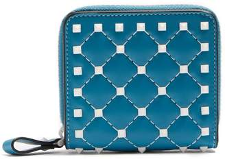 Valentino Rockstud Spike zip-around leather wallet