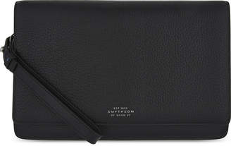 Smythson Burlington grained leather pouchette