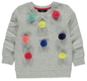 George Grey Marl Pom-Pom Sweatshirt