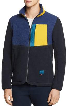 Herschel Color-Block Mixed-Media Fleece Jacket