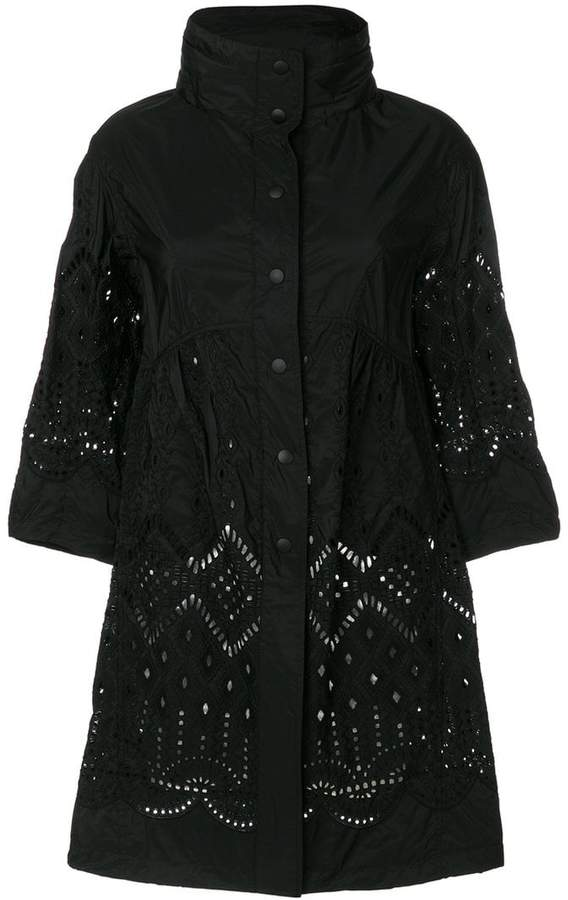 embroidered shell jacket