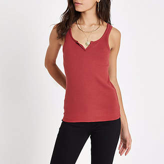 River Island Rust notch front tank