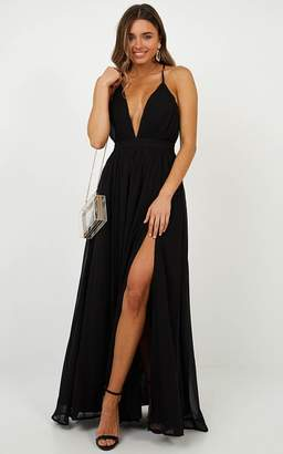 Showpo Shes A Delight Maxi Dress in Black