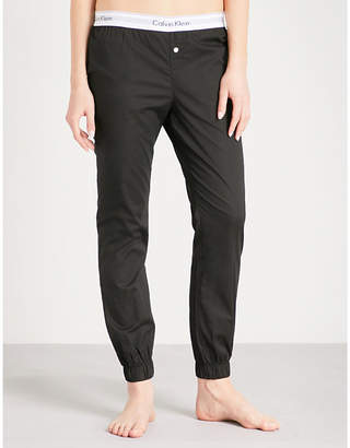 Calvin Klein Logo cotton pyjama bottoms