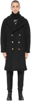 Givenchy Oversize Heavy Wool Blend Felt Coat