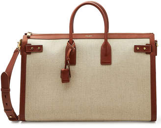 Classic Linen Bag with Leather