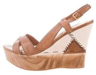 Miu Miu Platform Wedge Sandals