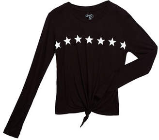 Flowers by Zoe Girl's Star Graphic Tie Front Tee, Size S-XL