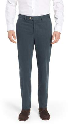 Hiltl Pero Trim Fit Stretch Flat Front Cotton Blend Trousers