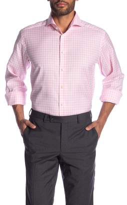 Eton Checkered Long Sleeve Contemporary Fit Shirt