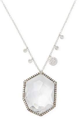 Meira T Women's White Gold Topaz Diamond Necklace