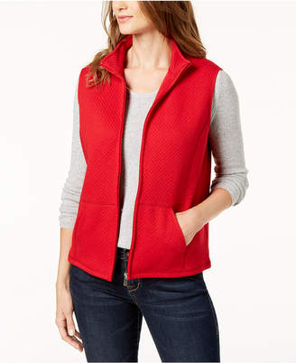 Karen Scott Quilted Fleece Vest, Created for Macy's