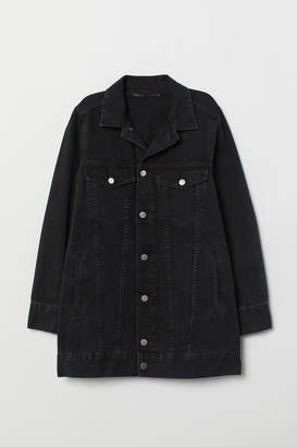 H&M Long Denim Jacket - Black