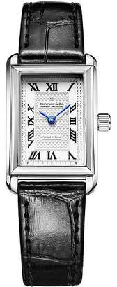 Dreyfuss & Co Ladies' Black Leather Strap Watch