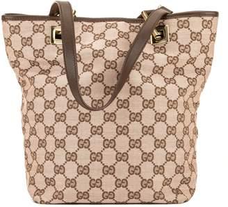 15aa155dd6f5 Gucci Pink/Brown GG Jacquard Small Bucket Tote (3970008)