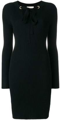 MICHAEL Michael Kors ribbed fitted dress