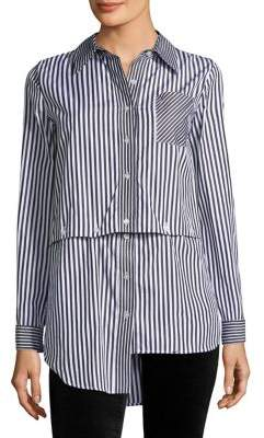 Milly Striped Fractured Shirt