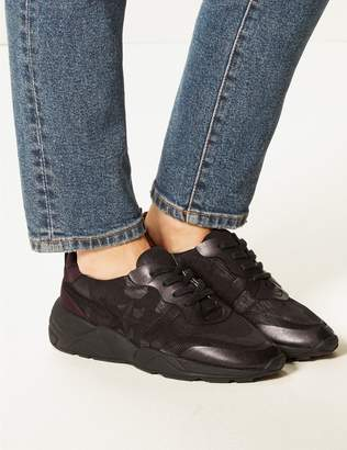 Marks and Spencer Star Detail Lace-up Trainers