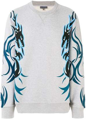 Lanvin dragon tribal printed sweatshirt