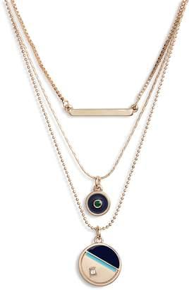 Treasure & Bond 3-Tier Disc Necklace