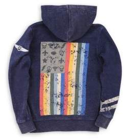 Butter Shoes Little Boy's& Boy's Mineral Wash Graphic Hoodie