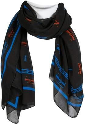 808da01babdef Alexander McQueen Black Cotton Scarves & pocket squares