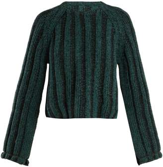 MM6 MAISON MARGIELA Cropped ribbed-knit wool sweater