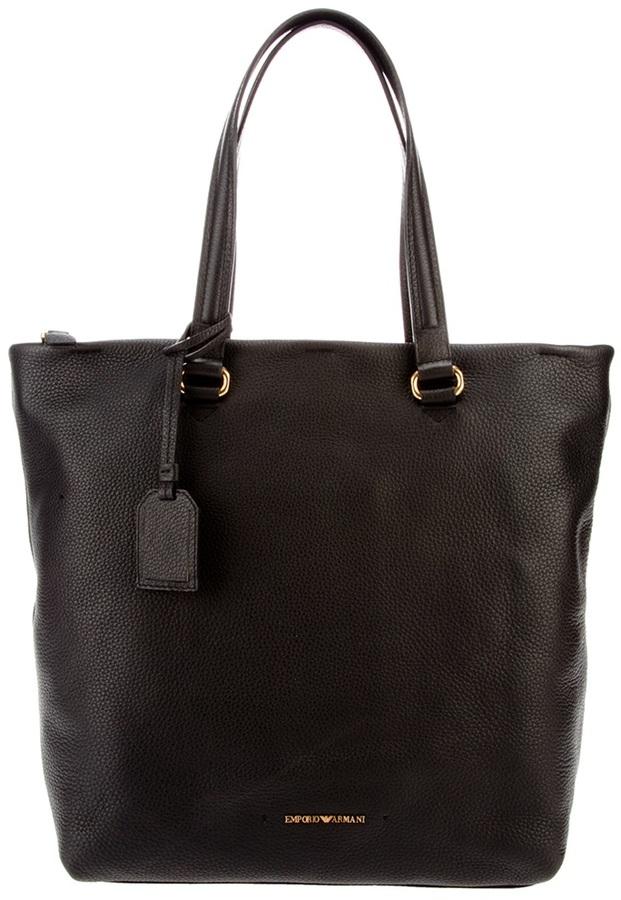 Emporio Armani leather tote