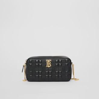 Burberry Quilted Check Lambskin Camera Bag