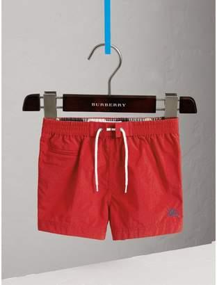Burberry Lightweight Swim Shorts , Size: 18M, Red