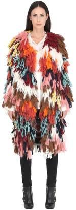 Chloé (クロエ) - Chloé Wool & Silk Multicolor Yarn Coat