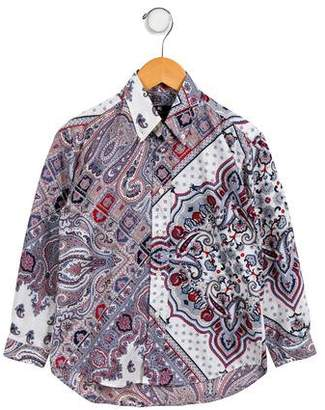 Etro Boys' Paisley Button-Up Shirt