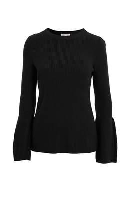 Minnie Rose Shaker Sleeve Sweater