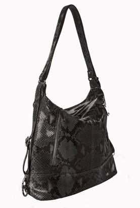 Bevini Modena Python Convertible Backpack-Tote
