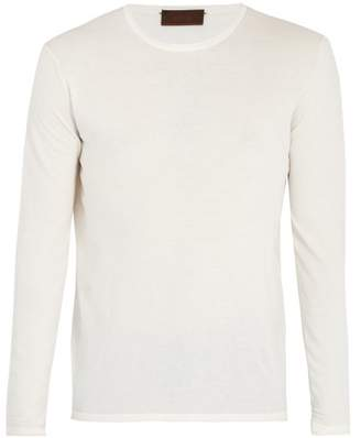 Altea - Crew Neck Cotton Sweater - Mens - White