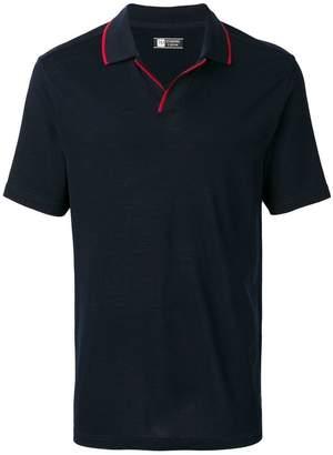 Ermenegildo Zegna contrast collar polo shirt