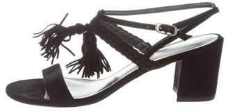 Stuart Weitzman Tasselmania Slingback Sandals