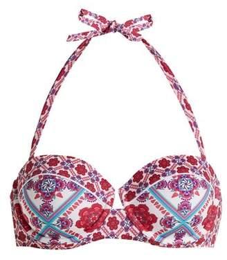 Paolita - Gobi Bandeau Bikini Top - Womens - Pink Multi