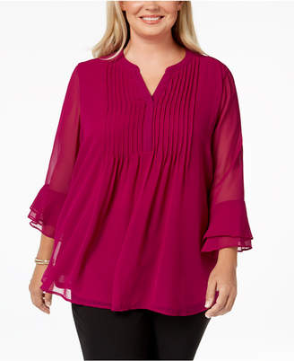 Charter Club Plus Size Pintucked Tunic