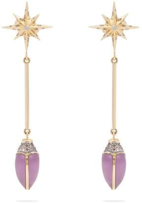 BIBI VAN DER VELDEN Scarab Star earrings