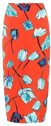 Diane von Furstenberg Floral crêpe pencil skirt