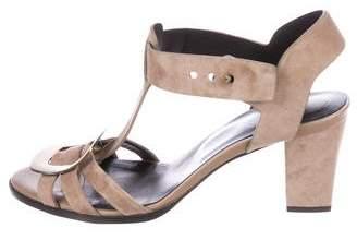 Roger Vivier Suede Embellished Sandals