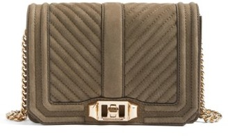 Rebecca Minkoff Small Love Nubuck Crossbody Bag - Green $225 thestylecure.com