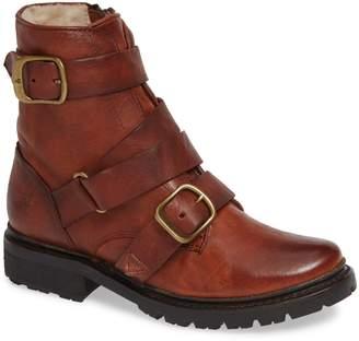 Frye Vanessa Tanker Genuine Shearling Lined Boot