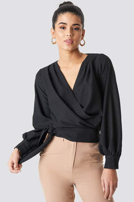 Trendyol Wrap Around Blouse Black