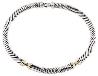 David Yurman Two-Tone Metro Cable Collar Necklace